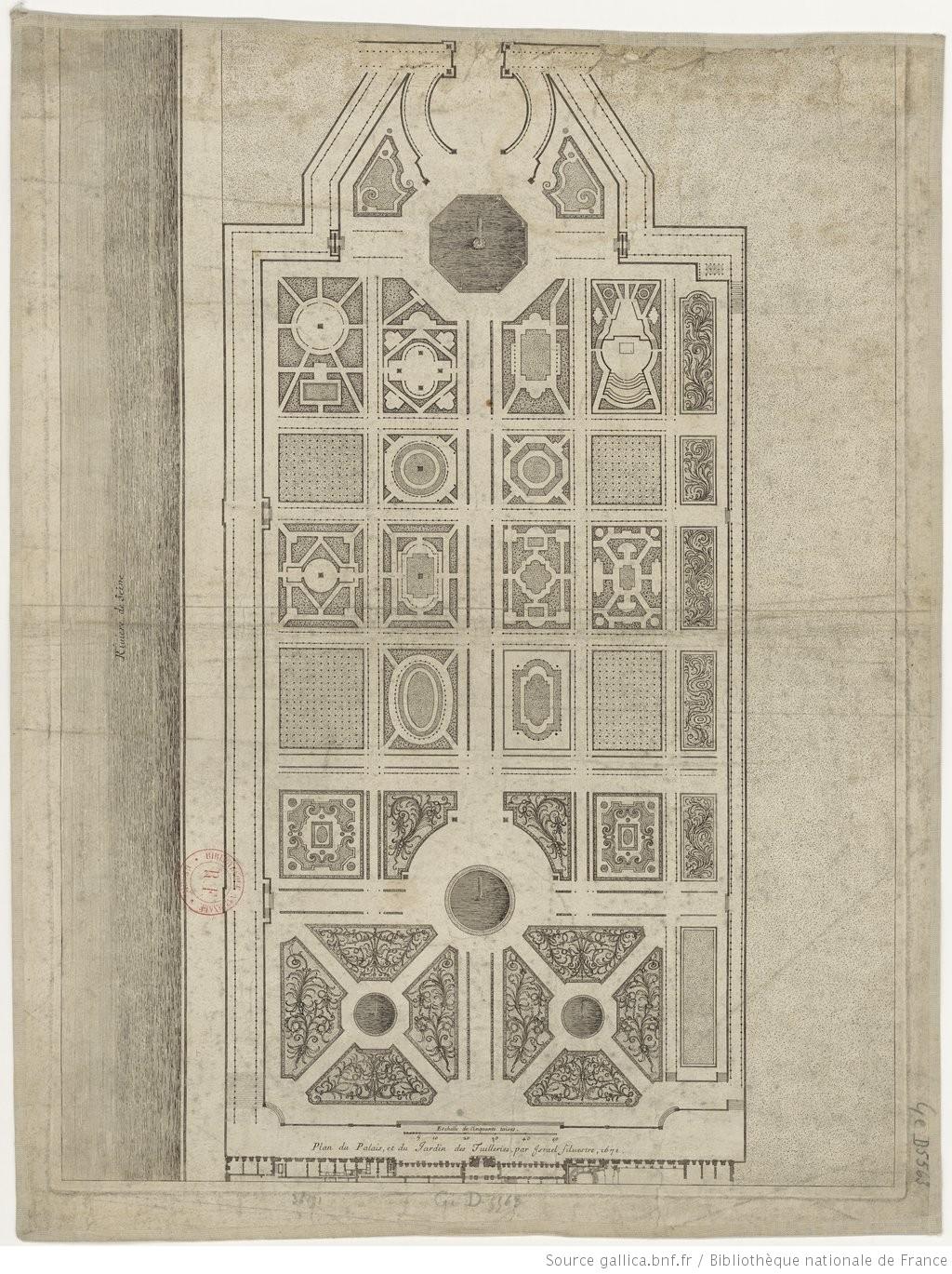Plan Du Palais Et Du Jardin Des Tuileries