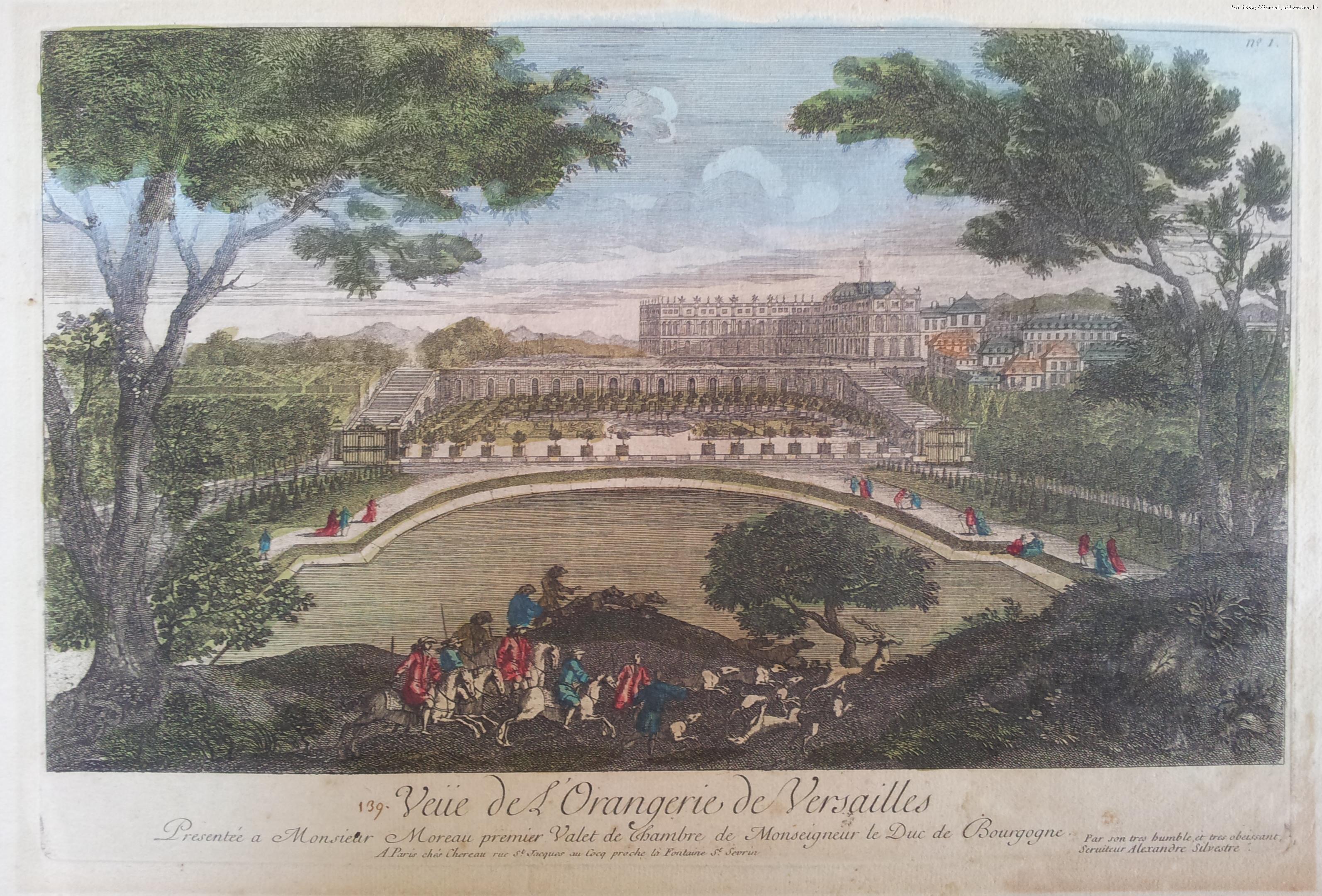 Veüe de l'Orangerie de Versailles