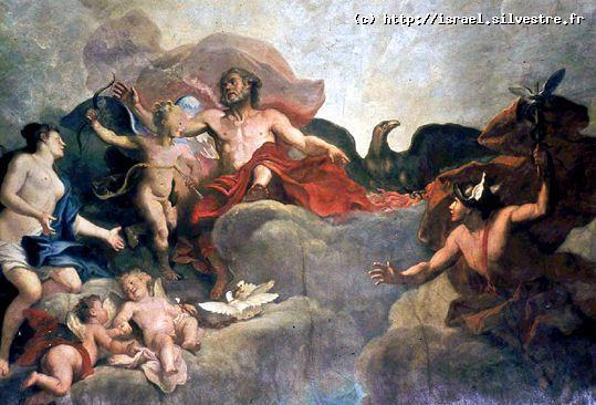 Jupiter confie l'éducation de Cupidon à Vénus et à Mercure
