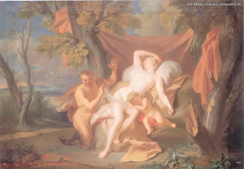 Zeus en satyre et Antiope