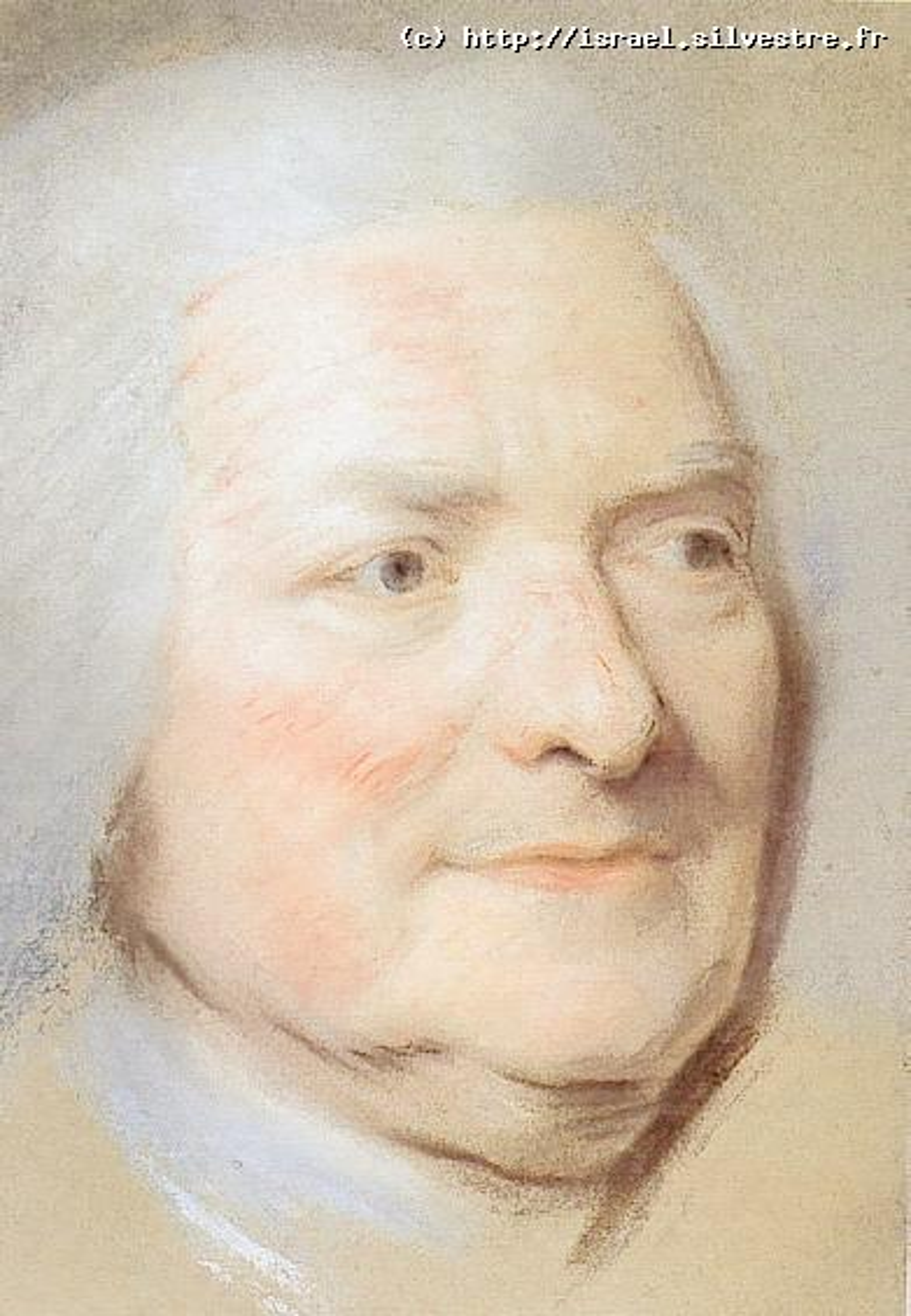 Maurice Quentin La Tour : Etude pour le portrait de Louis de Silvestre
