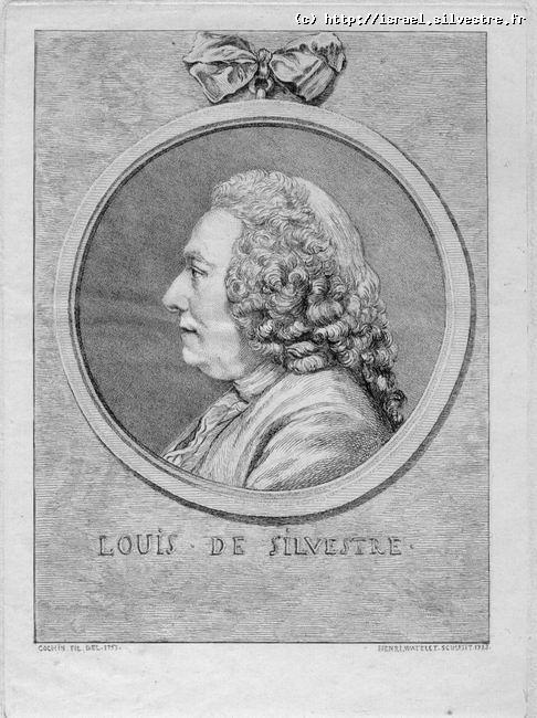 Portrait de Louis de Silvestre par Henri Watelet d'après Charles Nicolas Cochin