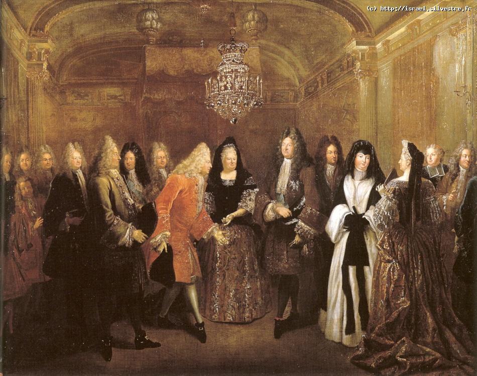 Louis XIV reçoit Frédéric-Auguste de Saxe