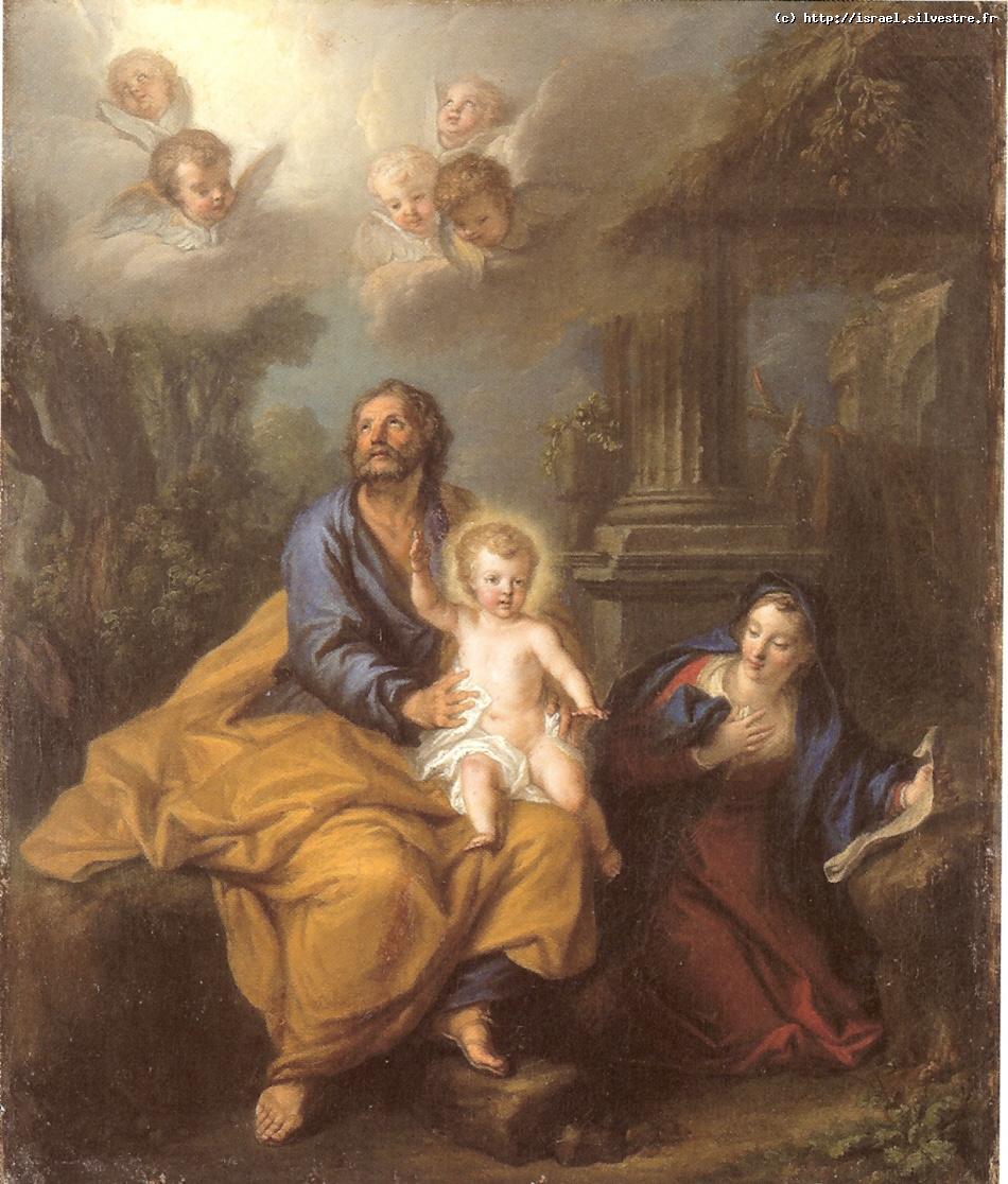 Saint Joseph recevant la bénédiction de l'enfant Jésus
