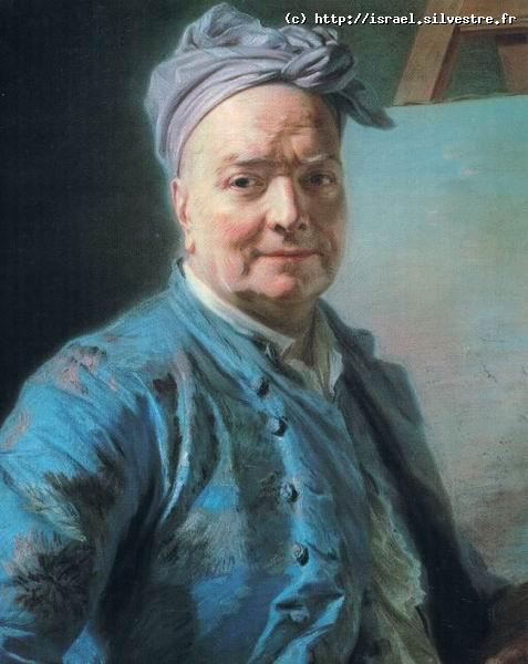 Maurice Quentin La Tour : Portrait de Louis de Silvestre